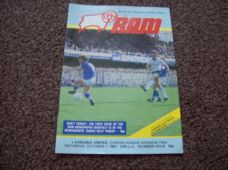 Derby County v Carlisle United, 1983/84